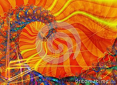 Spiraal met zonnige kleuring