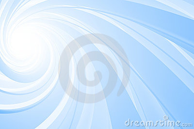 Spiral 3D, blue on white