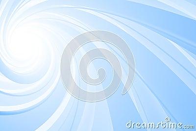 Spiral 3D, blue on white