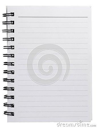 Spiral agenda blank paper