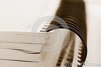 Spiral binder book