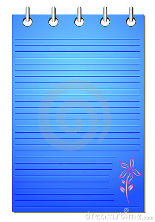 Spiral blue notepad