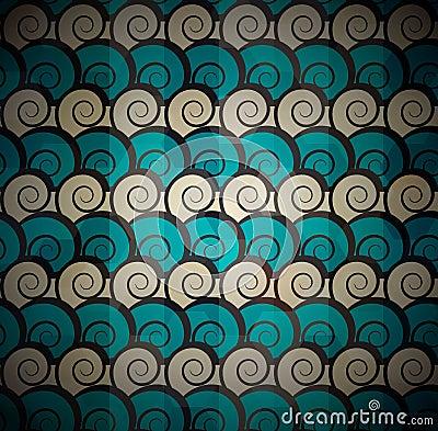 Spiral blue pattern