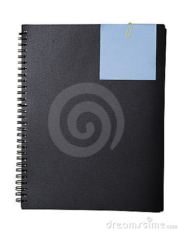 Spiral book and empty note