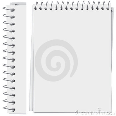 Spiral bound notepad page