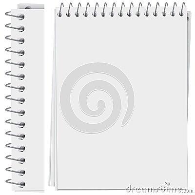 Spiral bound notepad page