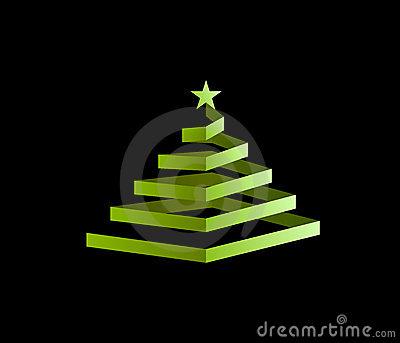Spiral Christmas Tree Royalty Free Stock Images - Image: 17213619