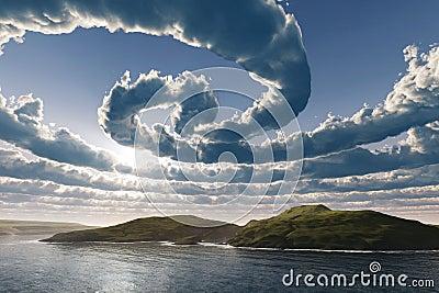 Spiral clouds