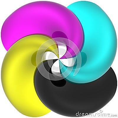 Spiral CMYK