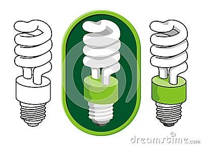 Spiral compact fluorescent light bulb