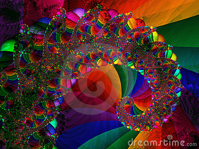 Spiral with crystal bright colours