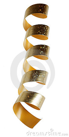 Spiral from a decorative golden tape