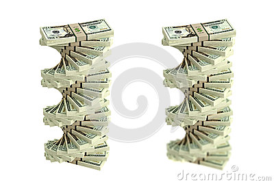 Spiral of Dollar bills