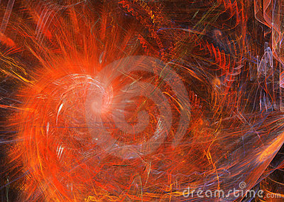 Spiral Flame Red