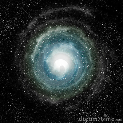Spiral galaxy in deep outer space