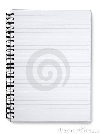 Free Spiral Lined Notebook Stock Images - 5100754