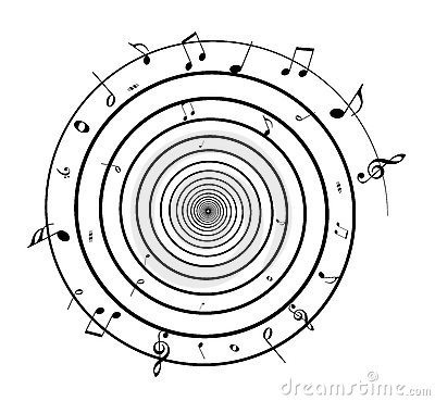 Spiral music notes