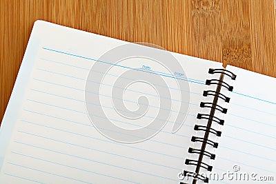 Spiral note book background