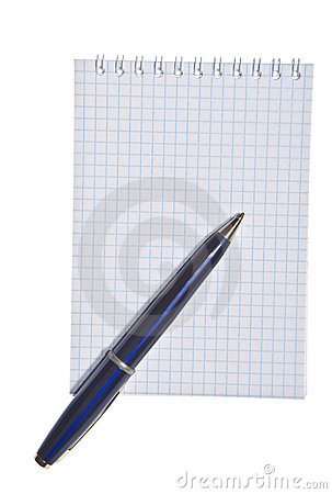 Spiral note pad with pen