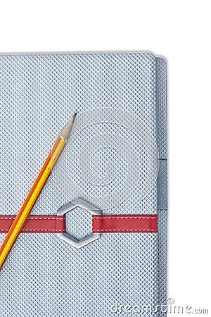 A spiral notebook.