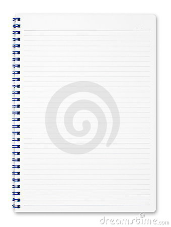 Spiral notebook isolated on pure white.