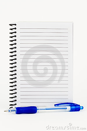 Spiral Notebook and Pen.