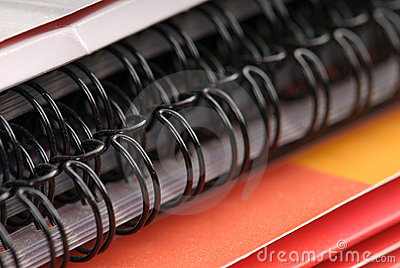 Spiral notebook and plain folders