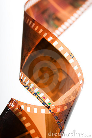 Free Spiral Of Color Negative Film Strip Royalty Free Stock Images - 4171239