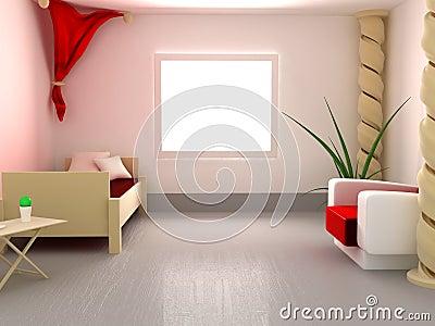 Spiral Pillar Bedroom