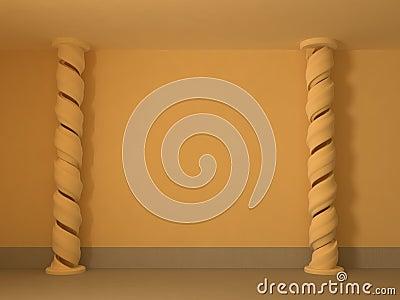 Spiral Pillar Wall