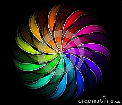 Spiral rainbow swirl