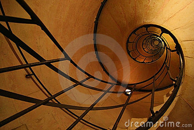 Spiral stair inside Arc De Triomphe