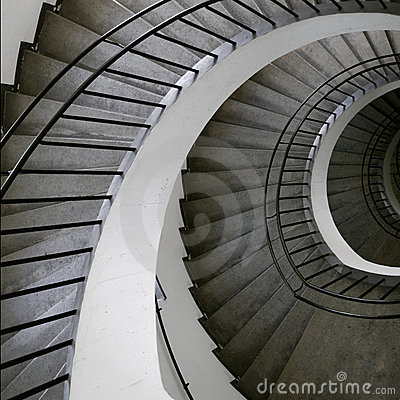 Spiral stair top