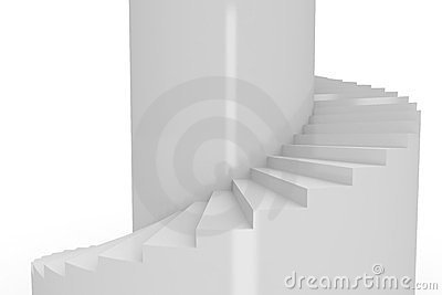 Spiral stair on tower.