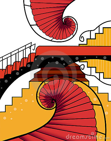 SPIRAL STAIRCASE ABSTRACT