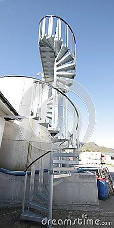 Spiral staircase of Ballstad