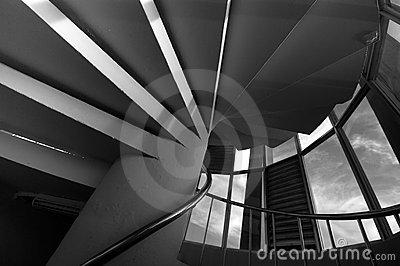Spiral Staircase in Circular Column
