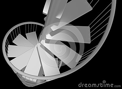 Spiral staircase descending with no hope