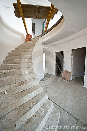 Spiral staircase in home