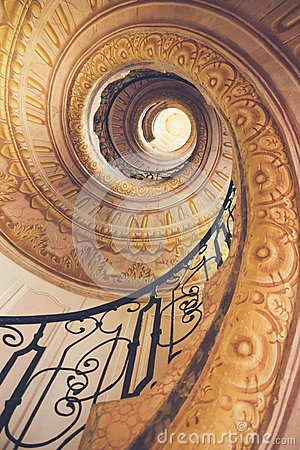 Free Spiral Staircase In Old Castle Stock Photos - 103557603
