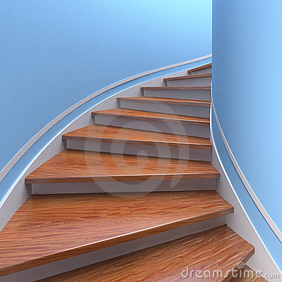 Free Spiral Staircases. 3d Royalty Free Stock Photo - 22732455