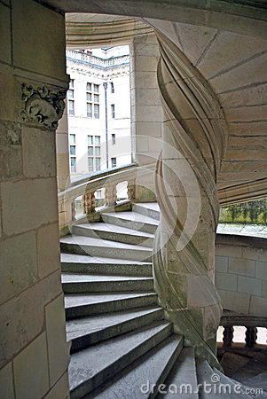 Spiral stairs in castle