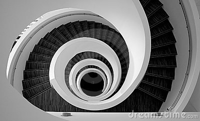Spiral stairs detail