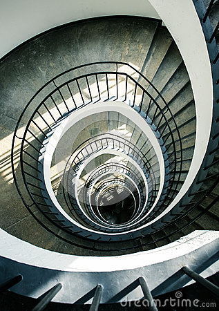 Free Spiral Stairs From Above Stock Image - 81778461
