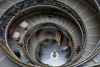 Spiral stairs in Vatican Editorial Stock Photo