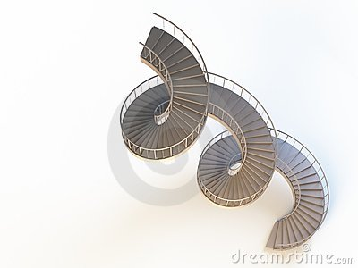 Spiral strairs isolated