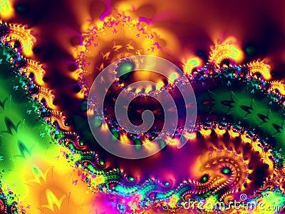 Spiral Swirls Fractal Texture