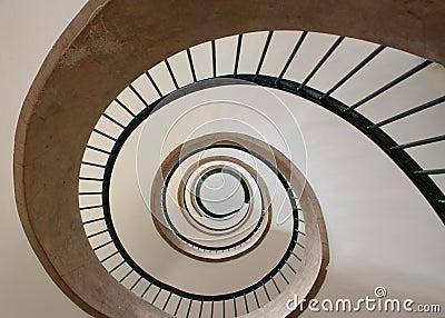 Spiral trappuppgång