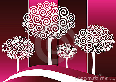 Spiral Tree Silohuttes