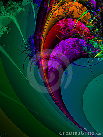 Spiral wave with bright colours